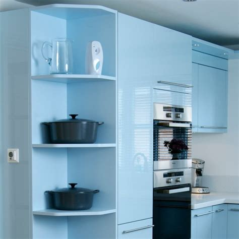 install  cool corner  kitchen shelving ideas