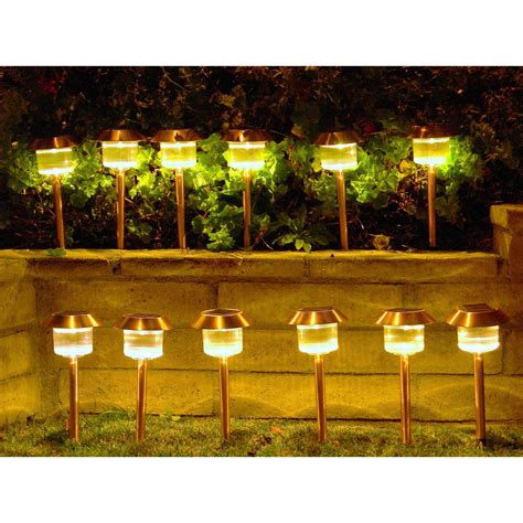 Landscape Lights Solar Homebrite Solar Power Belmont Path Lights Set Of 12 Solar Landscape Lights At Hayneedle