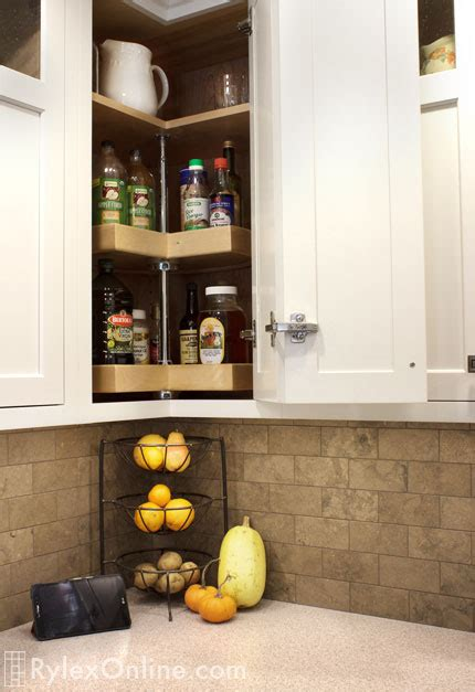 upper cabinet lazy susan classic style kitchen remodel west park ny rylex