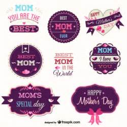 mother s day free vector badges set vector free download
