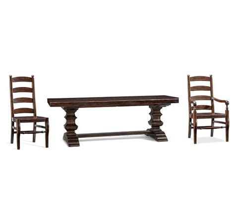 Pottery Barn Banks Table by Banks Extending Dining Table Chair Set Pottery Barn