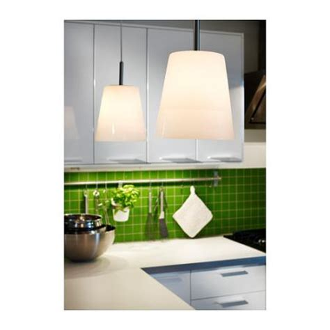 kitchen lighting ikea brand new ikea basisk white glass pendant ceiling l kitchen nickel w bulb ebay