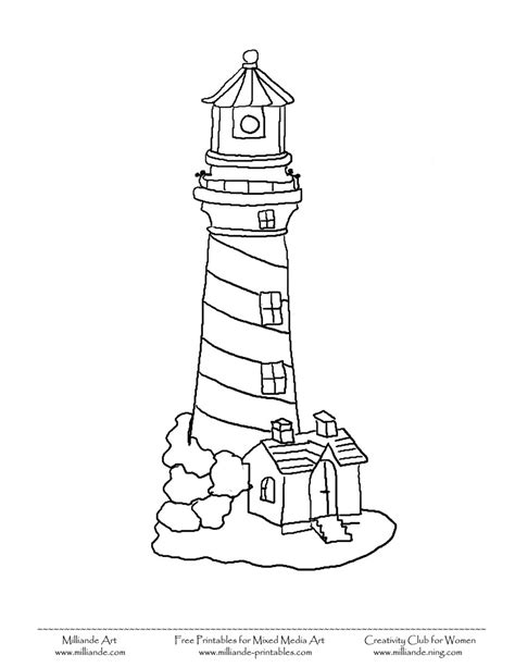 lighthouse printable simple lighthouse printable lighthouse coloring pages