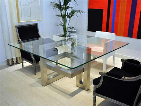 Square Island Kitchen 20 sleek stainless steel dining tables