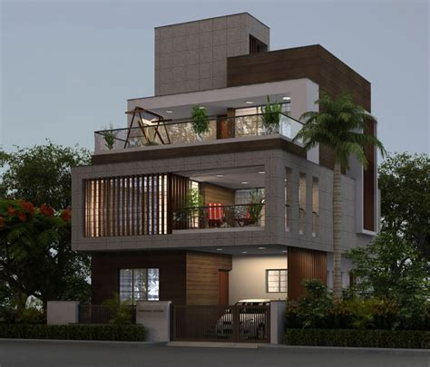 modern indian architecture search facade
