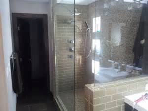 custom walk in shower contemporary bathroom other