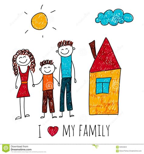 Home Design For Extended Family by Vector Image Of Happy Family With House Stock Vector