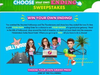 Sweepstakes Ending - nickelodeon s choose your own ending sweepstakes sweepstakes fanatics
