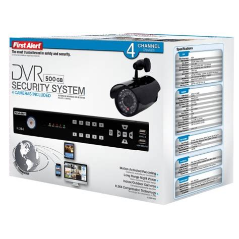 The First Alert Dc4405 420 Wired Dvr Security System With