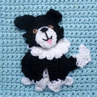 pattern white border collie ravelry border collie patch pattern by jenna wingate