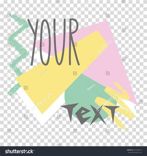 Retro 80 S Card Templates by Invitation Card Template In Retro 80s Style 1 Stock Vector
