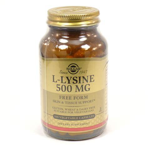 l lysine vegetables l lysine 500 mg vegetable capsules by solgar 100 count