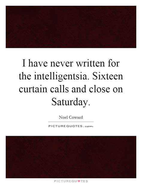 curtain call quotes i have never written for the intelligentsia sixteen