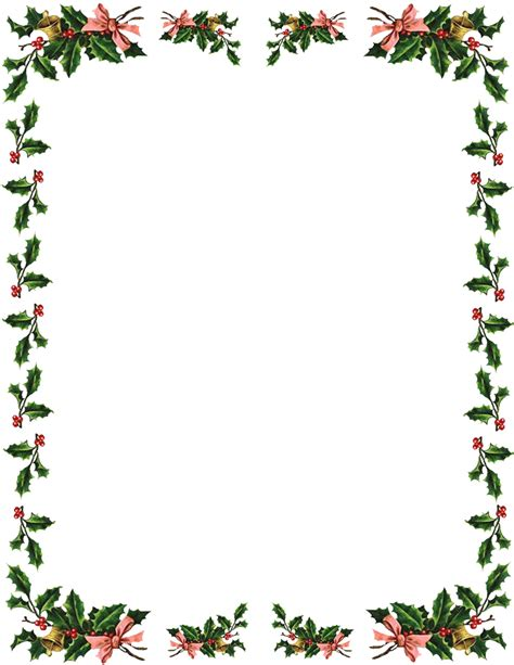 christmas borders word documents images amp pictures becuo