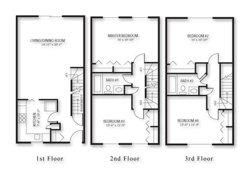 4 bedroom townhouse floor plans 301 moved permanently