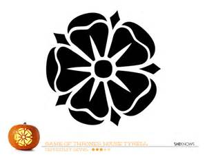 game of thrones house of tyrell pumpkin carving template