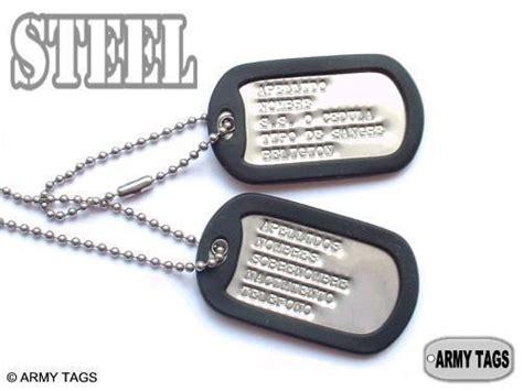 cadenas personalizadas con tu nombre colombia placas militares de acero modelo steel