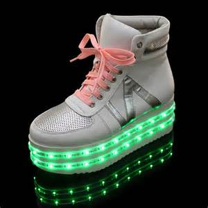 n letters yeezy layer led light up shoes for