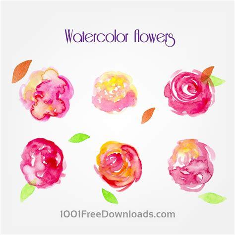 free vector watercolor flowers free vectors watercolor vector flowers flowers