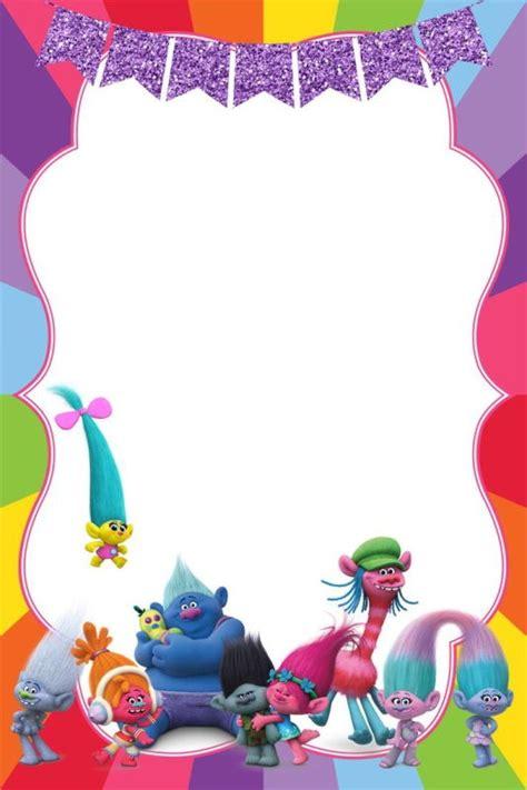 trolls template birthday invitation for calling all trolls