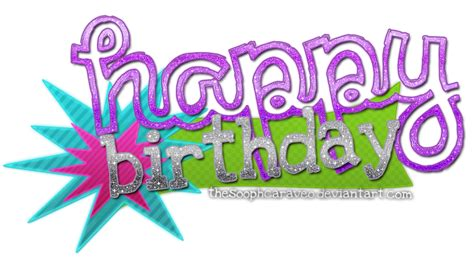 happy birthday logo design png happy birthday para constaanza pedido by