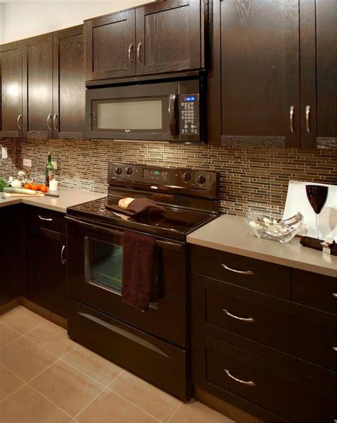 oak cabnets stained dark kitchen pinterest taupe