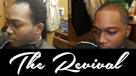 haidcut for black man with receding hairline mens receding hairline taper haircut the revival ad