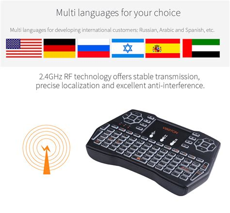Portable Meeting Wireless Toatif 15 X2 Lengkap viboton i8 plus wireless backlight keyboard black