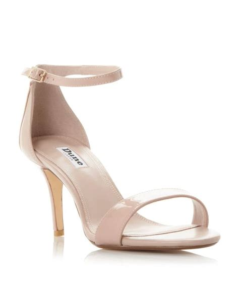 pink mid heel sandals dune mariee two part mid heel sandals in pink blush
