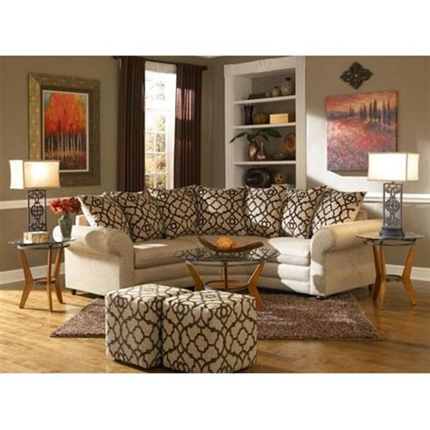 Espresso Living Room Furniture Aaron S Espresso Ii Living Room Collection 2 Sectional Ottoman 2 End Tables 2 Ls