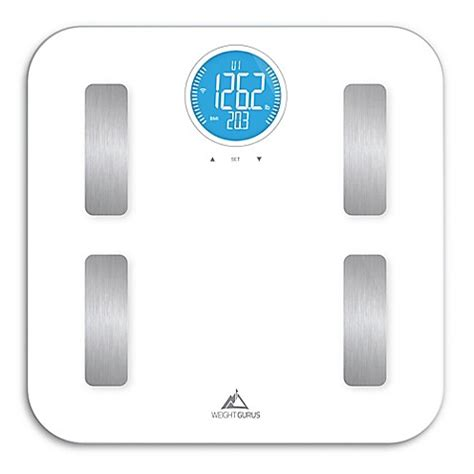 bed bath beyond bathroom scale weight gurus 174 wifi smart body composition scale bed bath