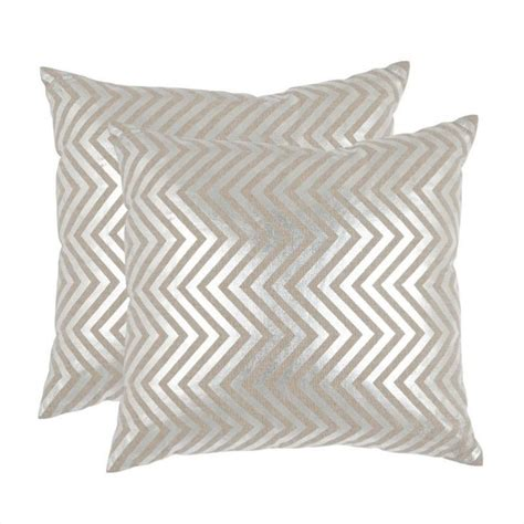 Silver Decorative Pillows by Safavieh Pillow 18 Inch Decorative Pillows In Silver