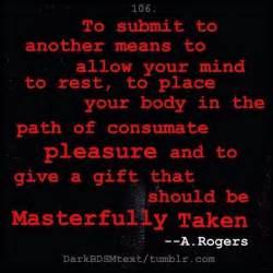 bdsmm quote dominant sub dom master