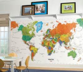 large colorful wall murals map of the world 6 x 10 5 for kids room for the dreamers wall mural decal 3d wall wall art wall murals wall