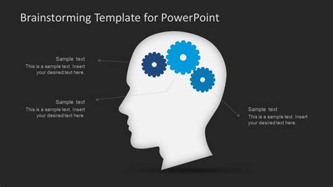 Dark Brainstorming Powerpoint Template Slidemodel Brainstorming Ppt