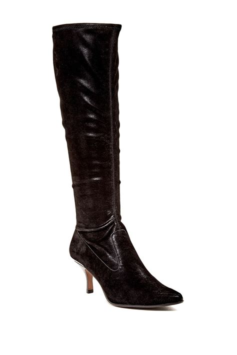donald pliner boots donald j pliner nelly high boot in black lyst