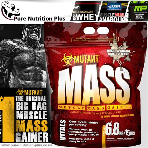 Whey Protein Mutant pvl mutant mass weight gainer whey protein powerfull supplements ebay