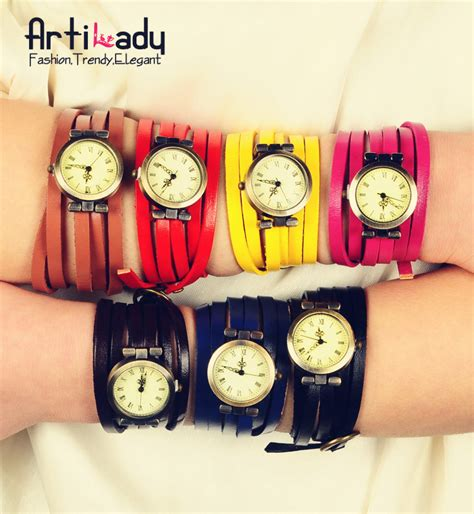 Aliexpress Buy 2015 Retro Style - aliexpress buy artilady 7color leather watches
