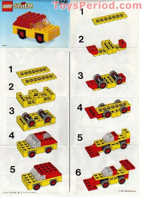 printable lego directions lego 1606 car set parts inventory and instructions lego