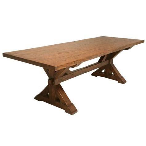 Handmade Oak Dining Table - handmade white oak farm table for sale at 1stdibs