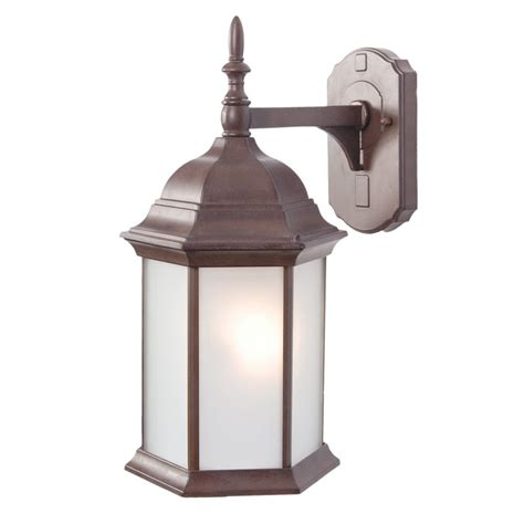 Craftsman Outdoor Light Shop Acclaim Lighting Craftsman 16 5 In H Burled Walnut Outdoor Wall Light At Lowes