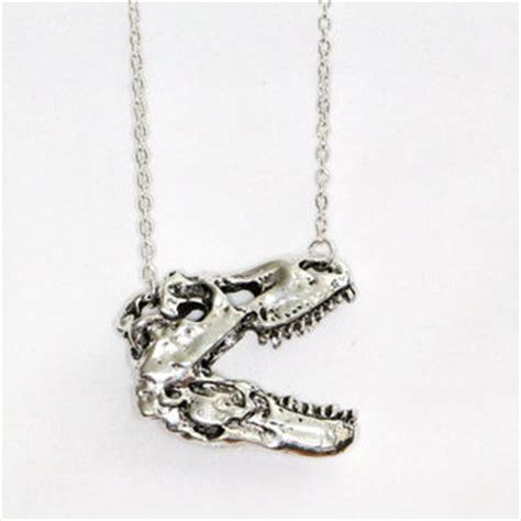 dinosaur necklace t rex necklace from thewhitefire on etsy