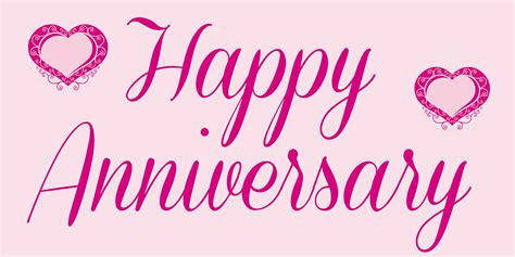 Banner Happy Anniversary anniversary banner pink
