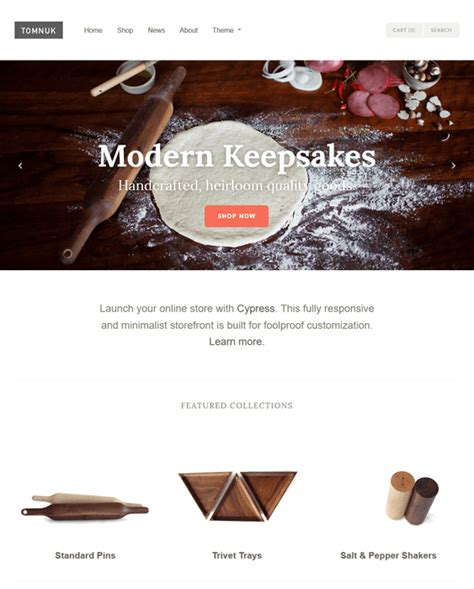 Shopify Themes Cypress | 7 of the best shopify themes for kitchenware down