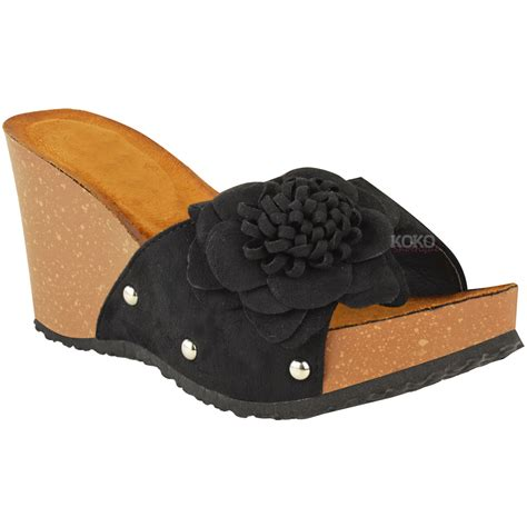 mule sandals for womens wedge summer mule sandals slip on cushioned