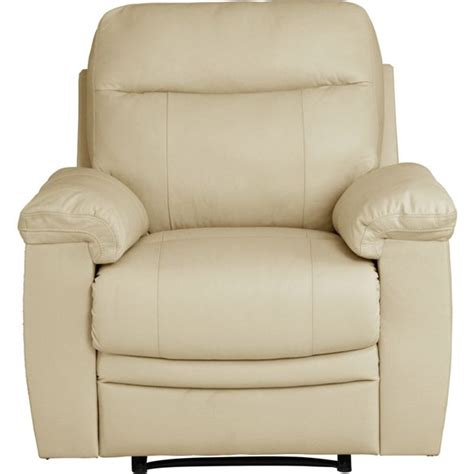 argos recliner chairs garden buy collection new paolo manual recliner chair ivory at