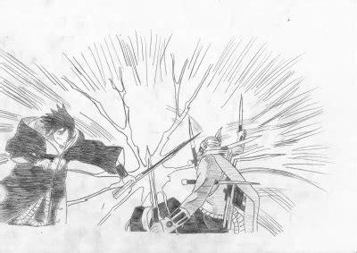 Dessin de Hachibi VS Sasuke - Dessin special Naruto Hachibi Vs Sasuke