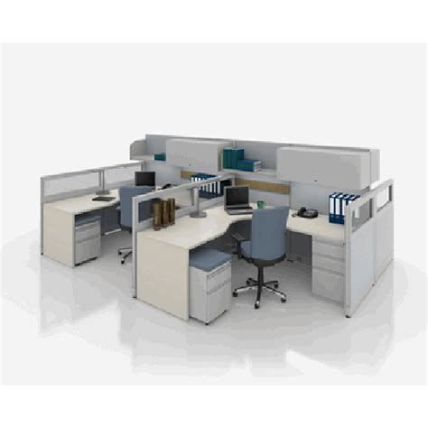 nvision 4 four person office workstation