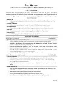 staff accountant resume sle resume template 2017