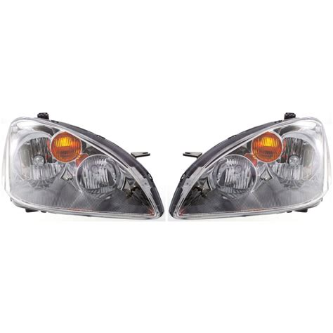 2004 nissan altima headlight bulb headlight set for 2002 2004 nissan altima driver and